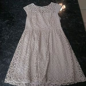 Forever 21 Tan Lace Dress